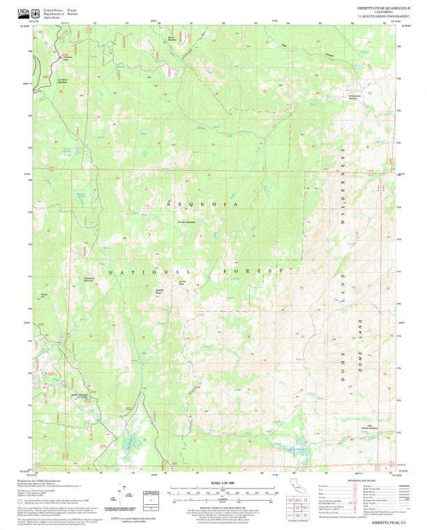 Sirretta Peak Quadrangle Map
