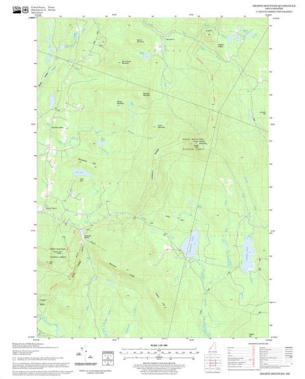Smarts Mountain Quadrangle Map
