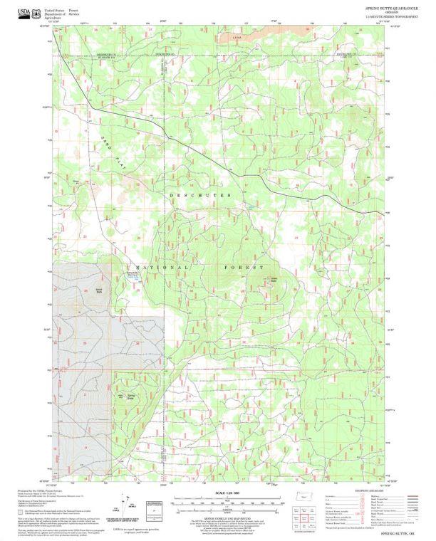 Spring Butte Quadrangle Map