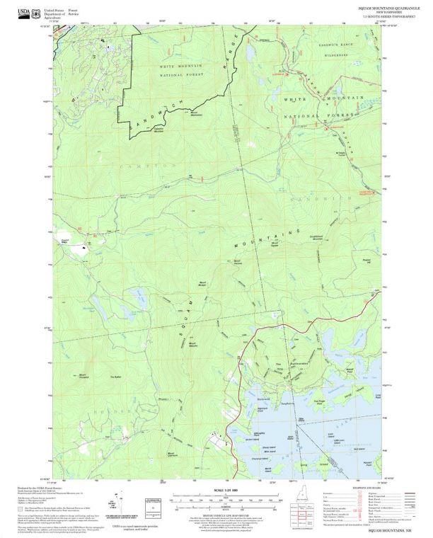 Squam Mountains Quadrangle Map