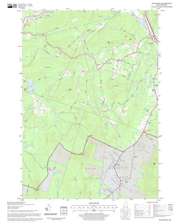 Sugar Hill Quadrangle Map
