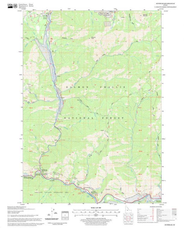 Sunbeam Quadrangle Map