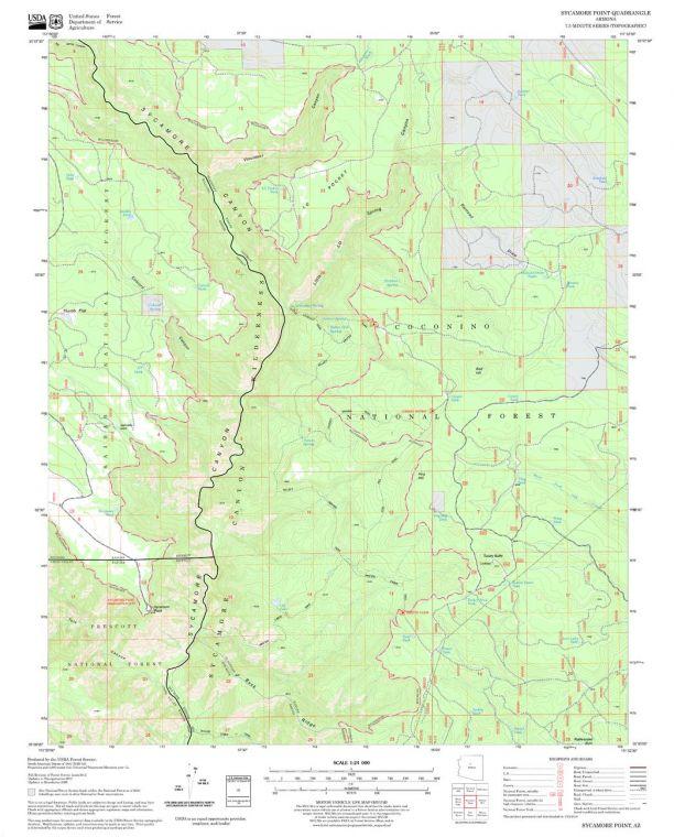Sycamore Point Quadrangle Map