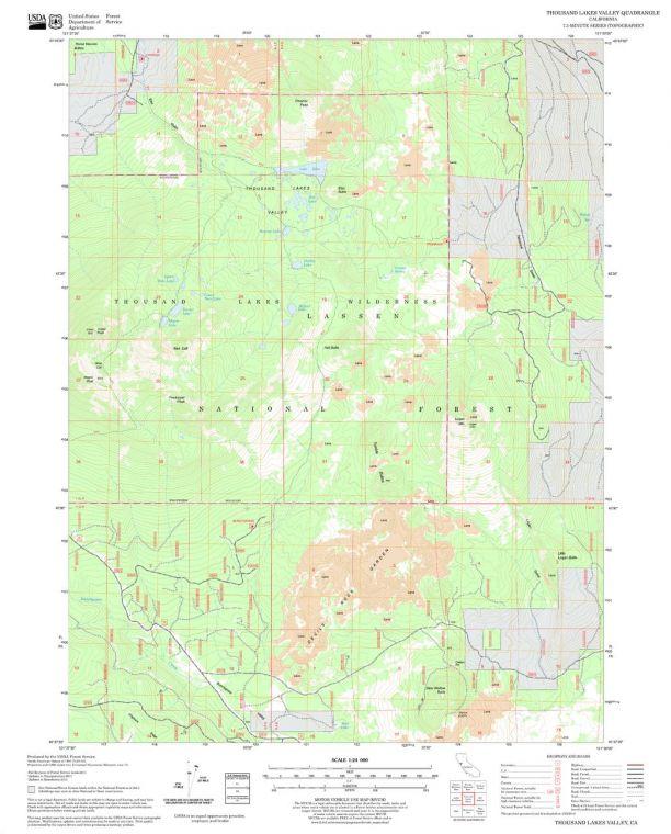 Thousand Lakes Valley Quadrangle Map