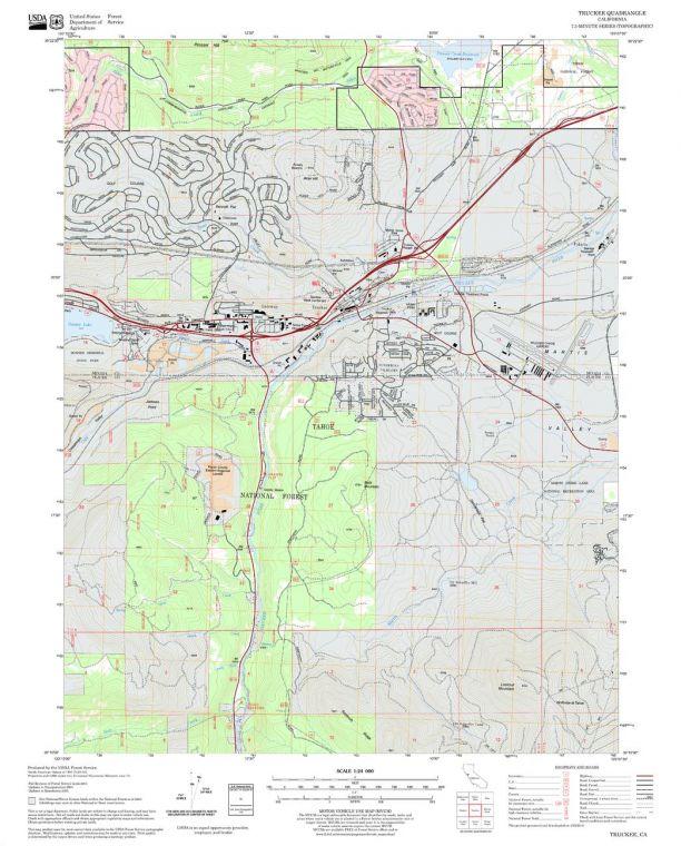 Truckee Quadrangle Map