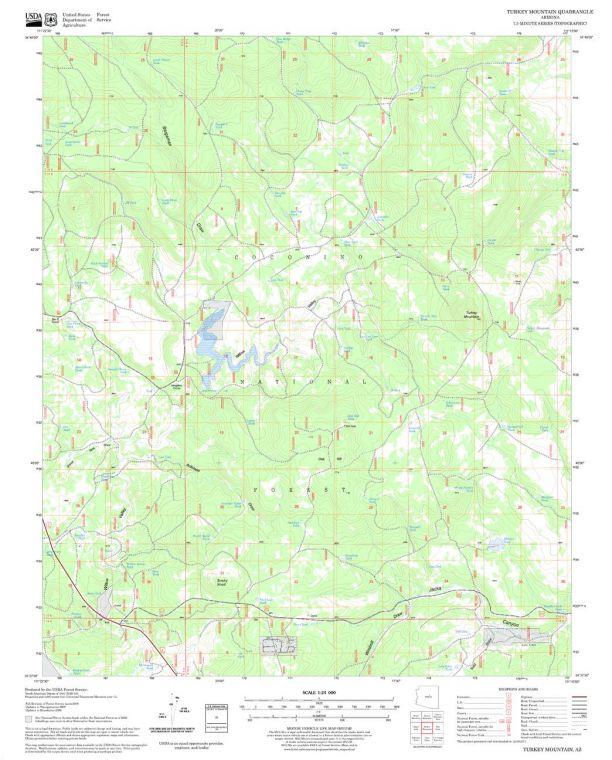 Turkey Mountain Quadrangle Map