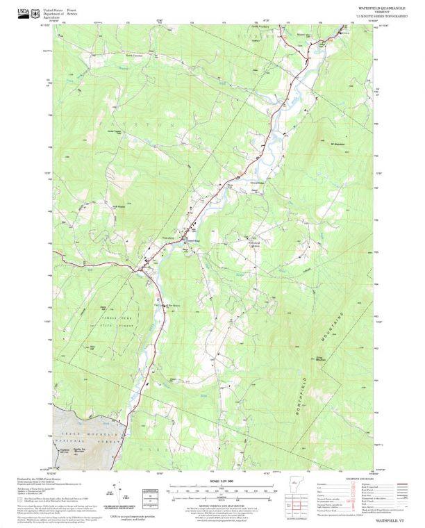 Waitsfield Quadrangle Map