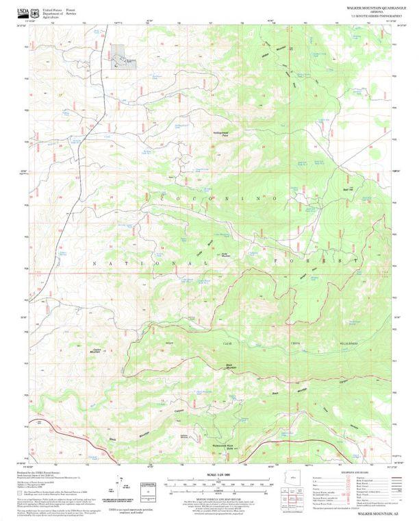 Walker Mountain Quadrangle Map
