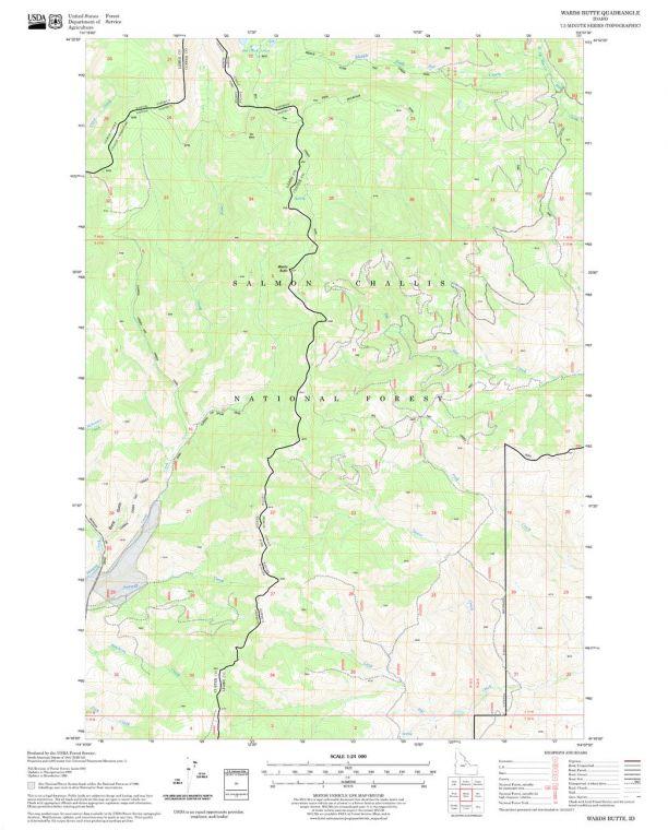 Wards Butte Quadrangle Map