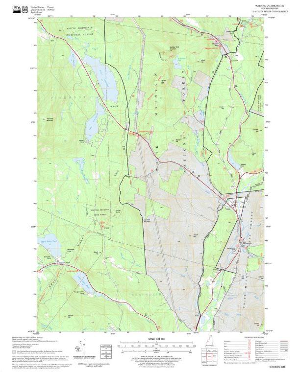 Warren Quadrangle Map