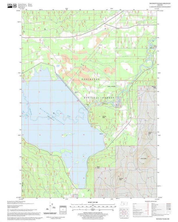 Wickiup Dam Quadrangle Map