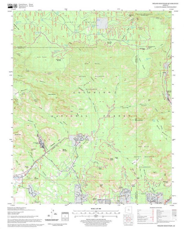 Wilson Mountain Quadrangle Map