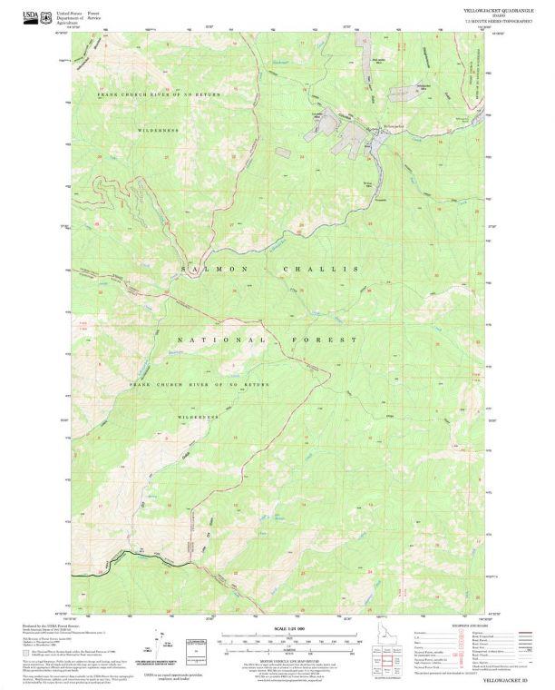 Yellowjacket Quadrangle Map