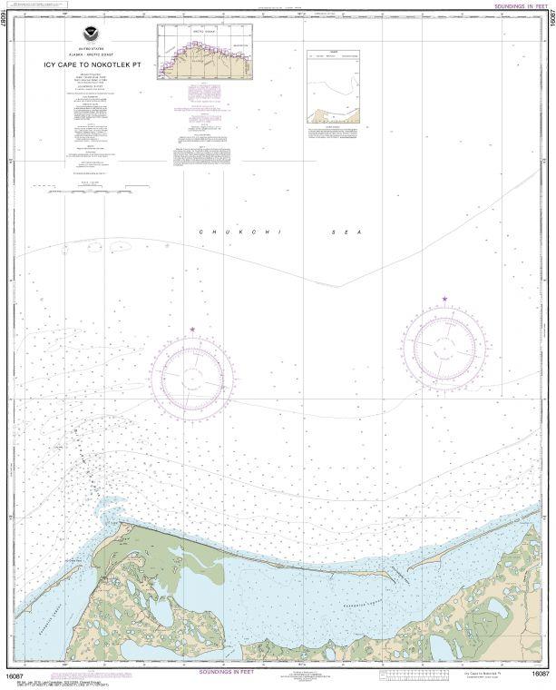 Noaa Chart 16087 Icy Cape To Nokotlek Pt