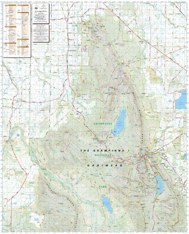 Northern Grampians Victoria Topographic Map