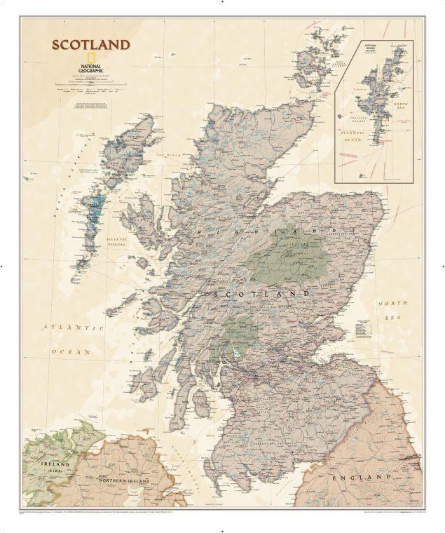 Scotland Executive Map