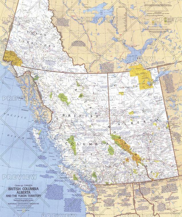 British Columbia Alberta And The Yukon Territory Published 1978 Map