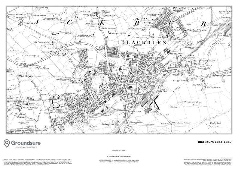 Blackburn Map 1844-1849