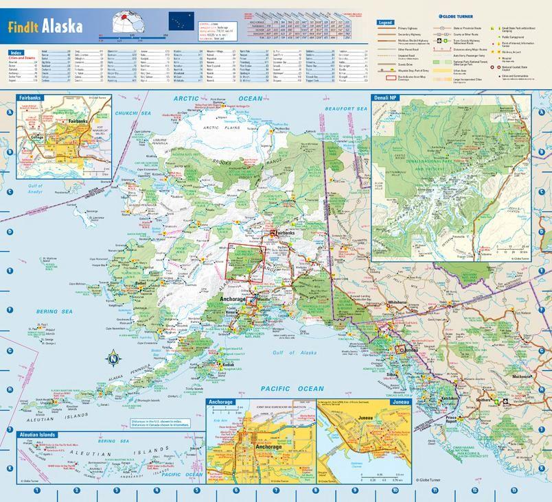 Alaska State Wall Map