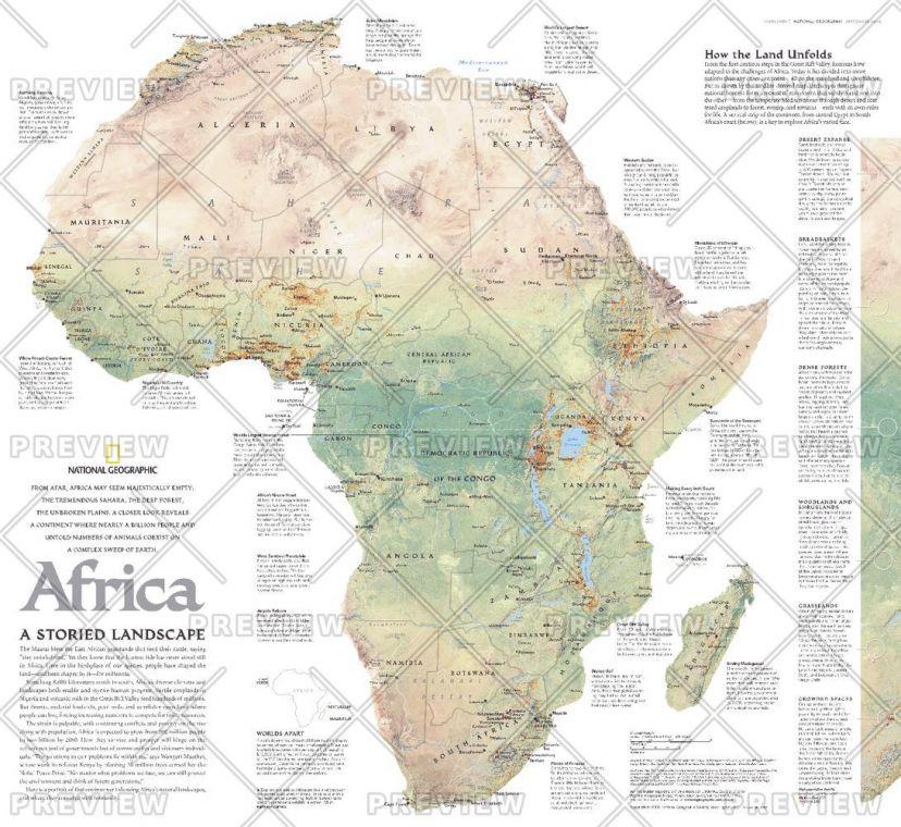 Africa A Storied Landscape Published 2005 Map