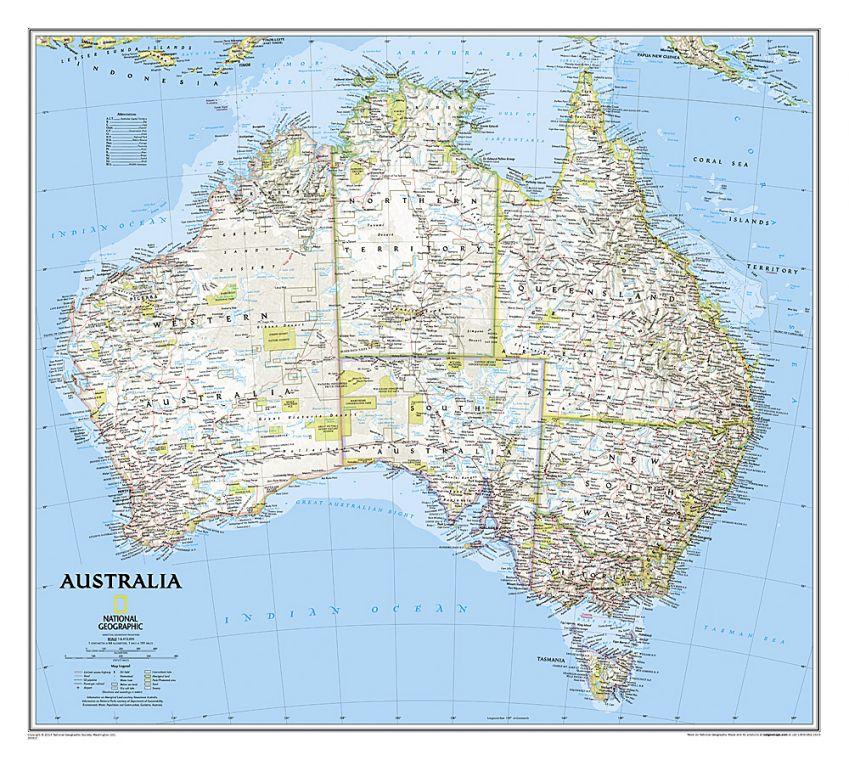 Australia Classic Map
