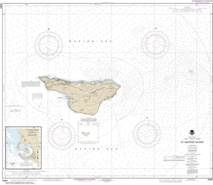 Noaa Chart 16381 St George Island Pribilof Islands