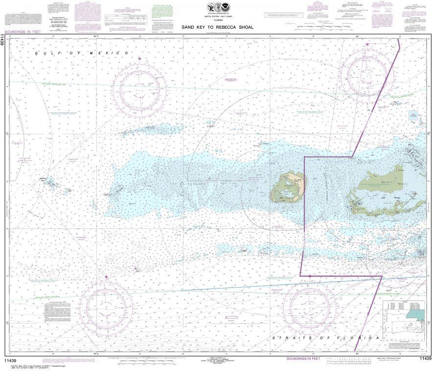 Noaa Chart 11439 Sand Key To Rebecca Shoal