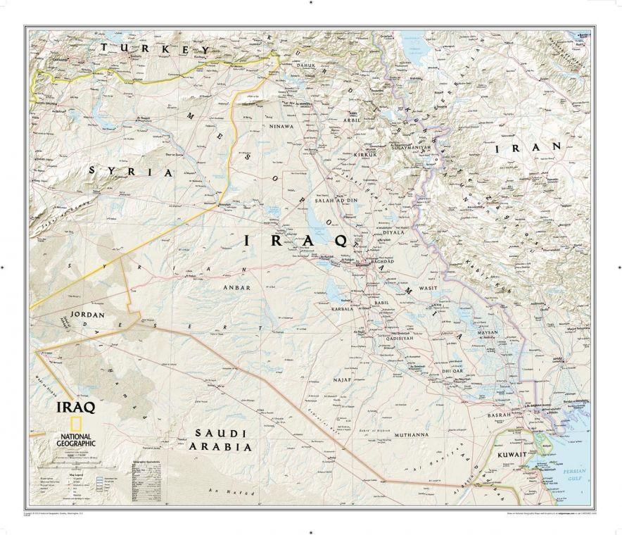 Iraq Classic Map