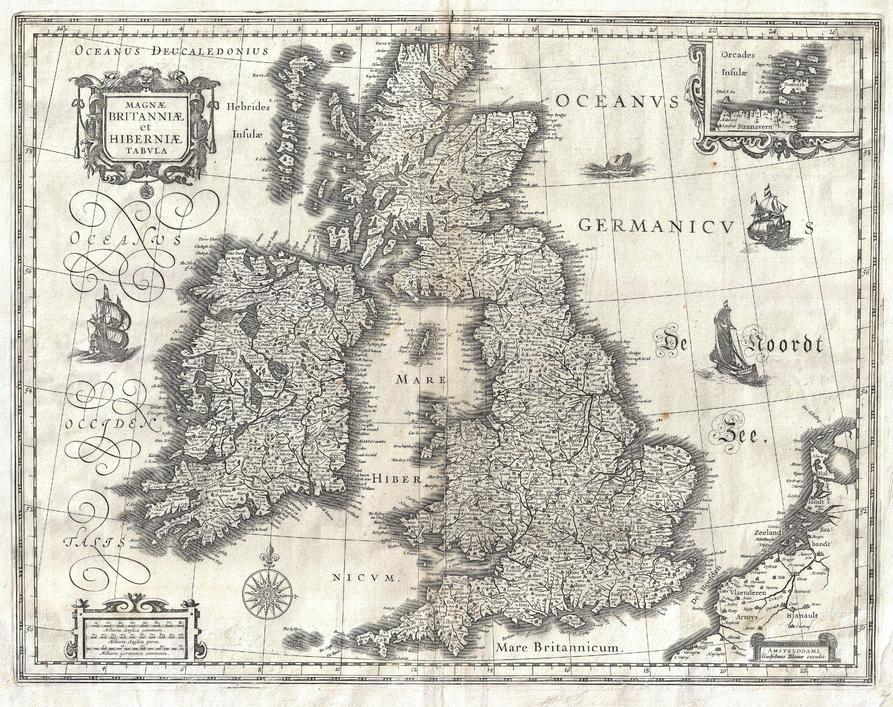 Blaeu Map Of The British Isles 1631
