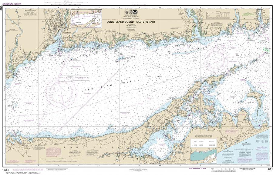 Noaa Chart 12354 Long Island Sound Eastern Part
