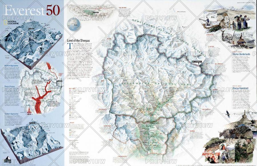 Everest 50 Published 2003 Map