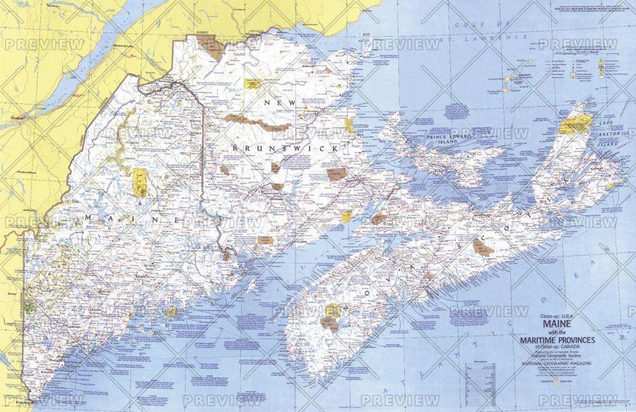 Close Up Usa Maine Published 1975 Map