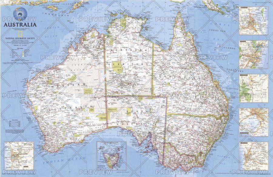 Australia Published 2000 Map