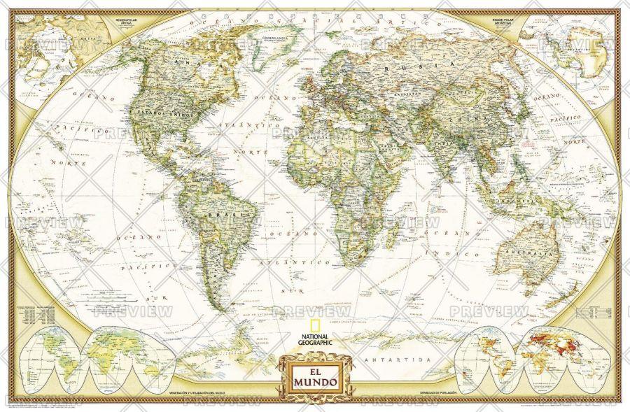 World Executive Spanish Published 2005 Map