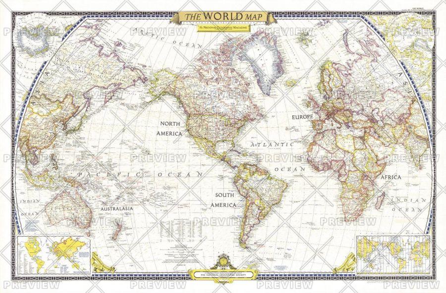 World Published 1951 Map