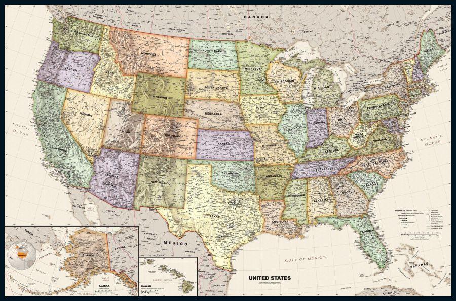 Legacy Usa Wall Map