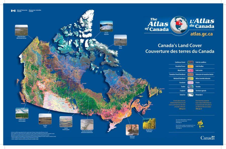 Canada S Land Cover Couverture Des Terres Du Canada Map