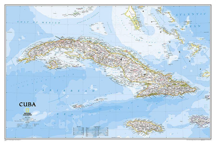 Cuba Classic Map
