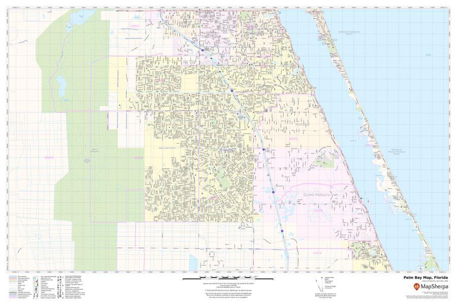Palm Bay Map