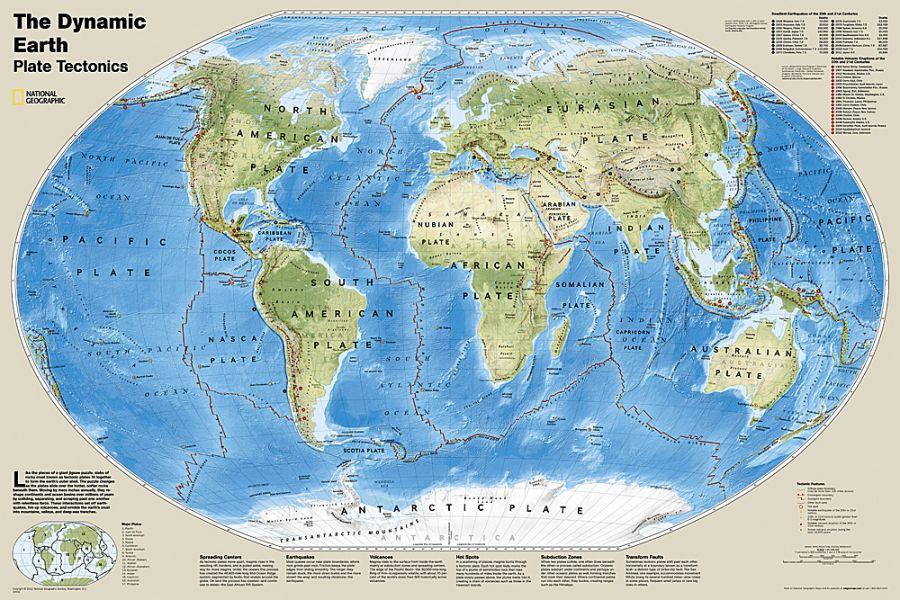 The Dynamic Earth Plate Tectonics Map