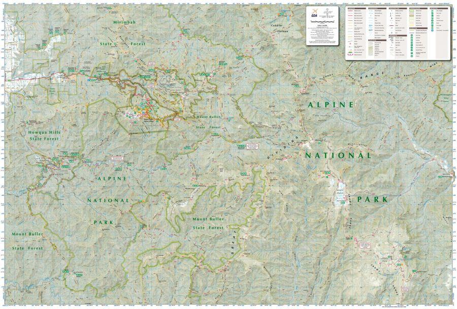 Buller Howitt Alpine Area Victoria Topographic Map