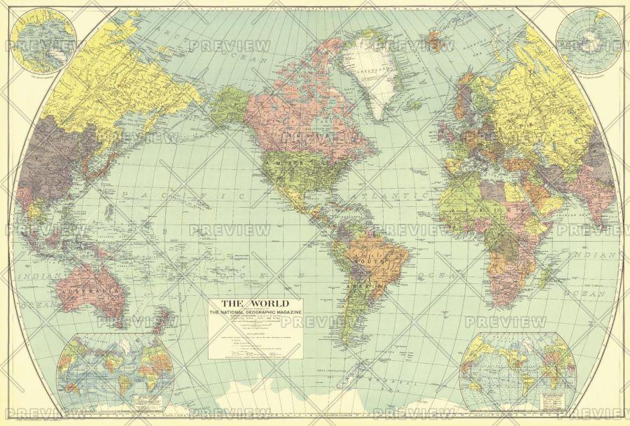 World Published 1932 Map