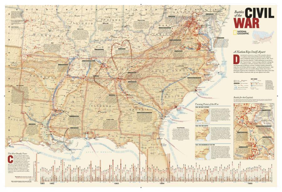 Battles Of The Civil War Map