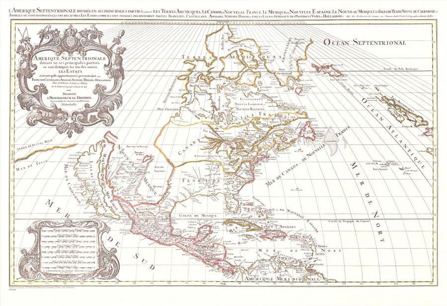 America Septentrionale Map