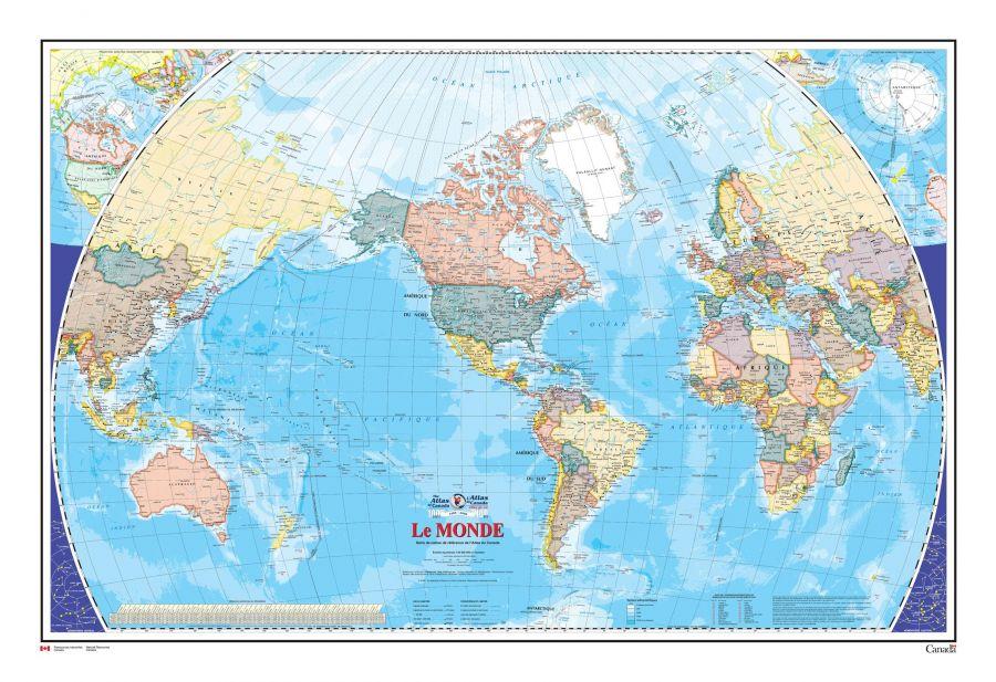 Le Monde Carte Murale L Atlas Du Canada Map
