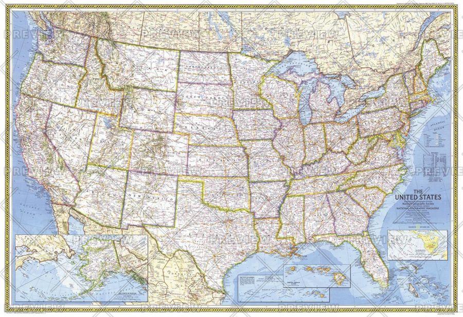United States Published 1982 Map