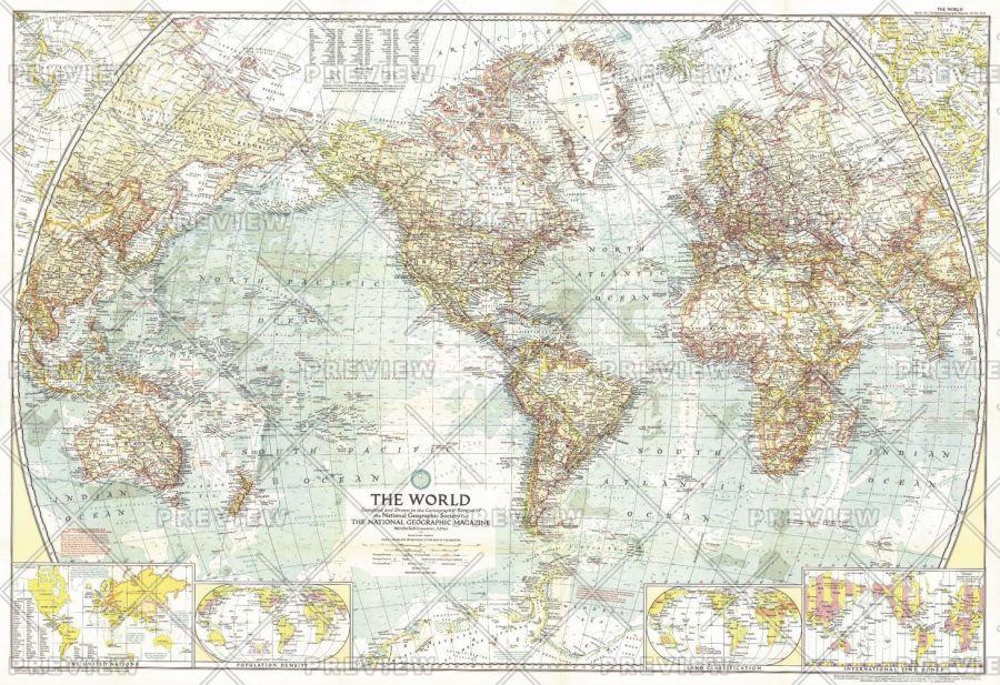 World Published 1957 Map