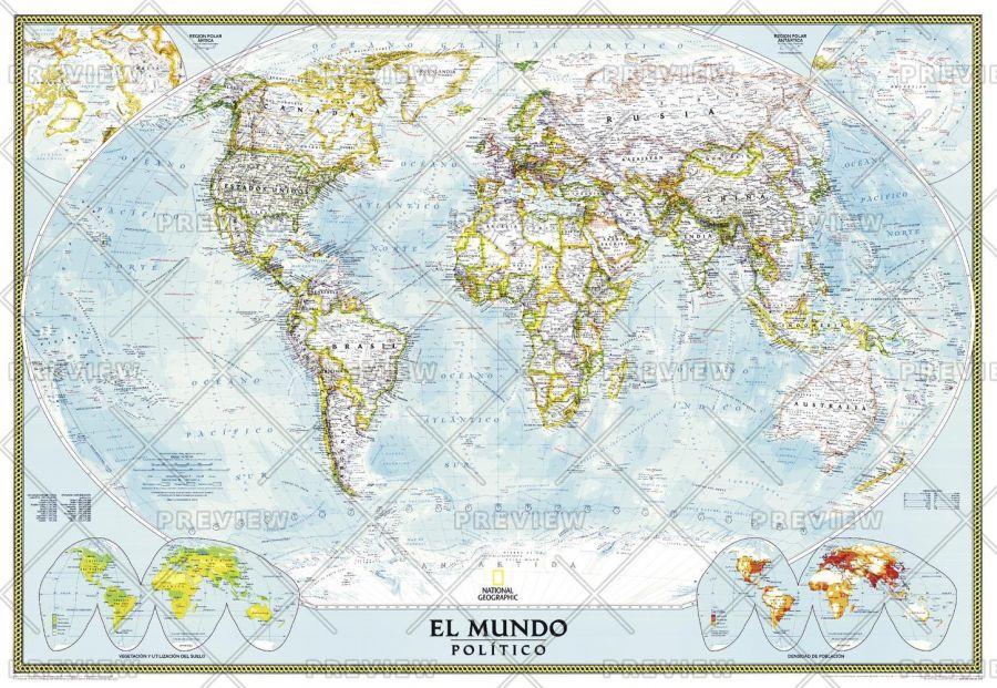 World Classic Spanish Published 2005 Map