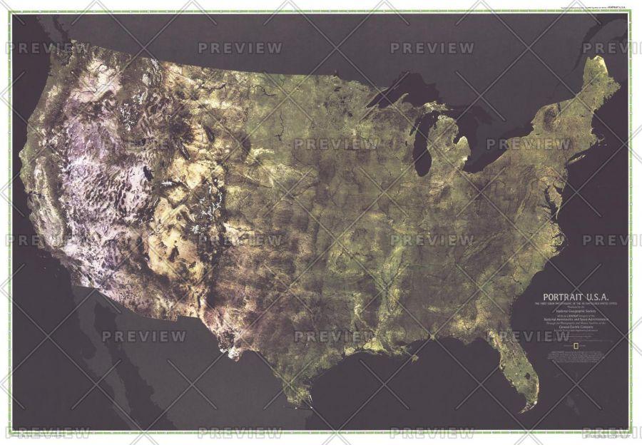 Portrait Usa Published 1976 Map