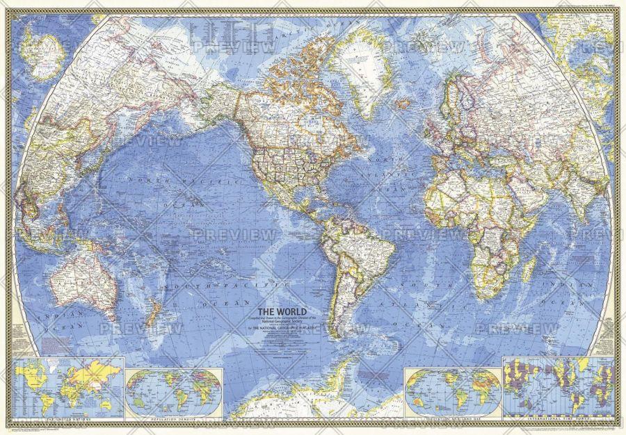 World Published 1970 Map